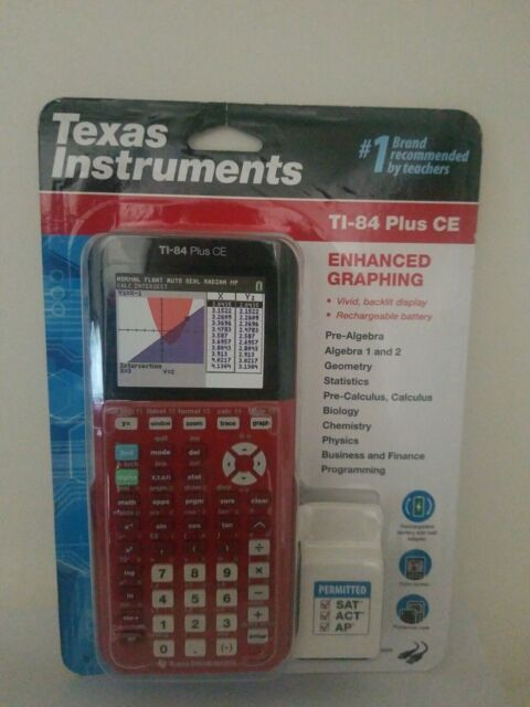 Texas Instruments TI-84 Plus CE Graphing Calculator Red Brand New Sealed