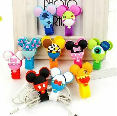 Mickey Minnie Mouse Cartoon Cable Organizer Holder Cable Winder Headphone Holder