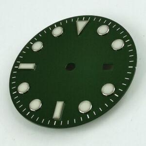 31-3MM-Green-Watch-Dial-Luminous-Fit-For-Miyota-8215-8205-Mingzhu-2813-Movement