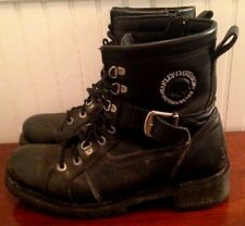 """HARLEY DAVIDSON MOTORCYCLES """"CONDOR"""" LEATHER RIDING BOOTS MEN'S 9-1/2 (#98301)"""