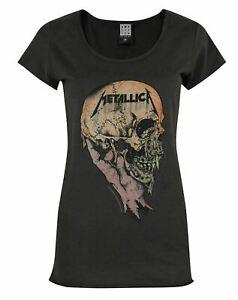 Amplified-Metallica-Sad-But-True-Women-039-s-T-Shirt