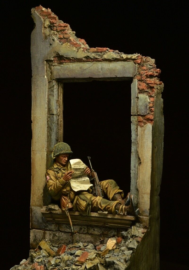 Resin soldier museum, American soldier, Normandy landings, Second World War 75mm