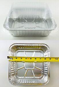 9 Quot X9 Quot Square Cake Aluminum Foil Pan W Clear Lid 50 Sets