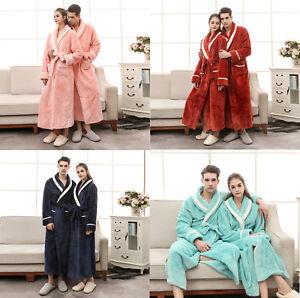 242f0b08b731 Image is loading New-Women-Mens-Luxury-Sleepwear-Flannel-Robe-Nightwear-