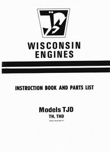 image is loading wisconsin-engines-instruction-book-and-parts-list-for-