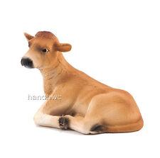 Mojo Fun 387144 Jersey Calf Lying - Farm Animal Model Toy Cow Replica - NIP
