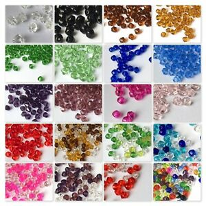BUY-3-GET-3-FREE-200x-4mm-100x-6mm-50x-8mm-Value-Crystal-Glass-Bicone-Beads-UK