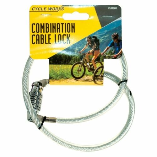 2X 4 Digits Heavy Duty Combination Bike Bicycle Cable Spiral Steel Pad Lock UK