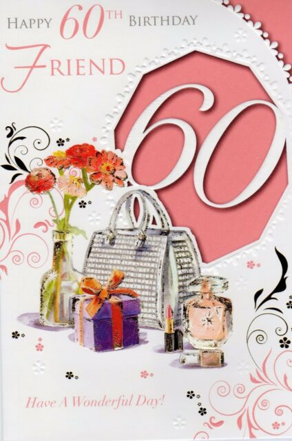 Friend happy 60th birthday greetings card girl 60 wordy female sixty picture 2 of 3 m4hsunfo