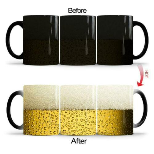 Funny Beer Bubble Color Changing Cup Creative Ceramic Coffee Mug Kitchen supplie