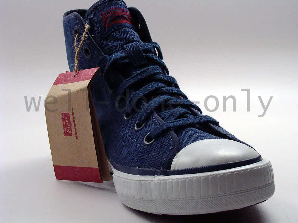 Asics Onitsuka Tiger Cordura Layup 72 navy blue white Uomo vegan canvas shoes