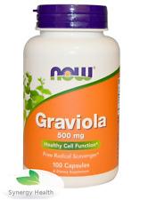 Now Foods Graviola 100* 500mg  Caps UK Freepost Synergy Same Day Dispatch