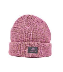 New Navitas Womens Lily Pink Green Beanie Winter Hat - Carp Fishing ... 8d847fac1e06