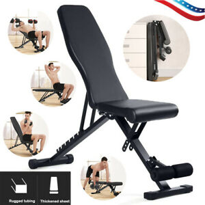 Home-Fitness-Dumbbell-Weight-Bench-Barbell-Lifting-Folding-Adjustable-Chair-NEW