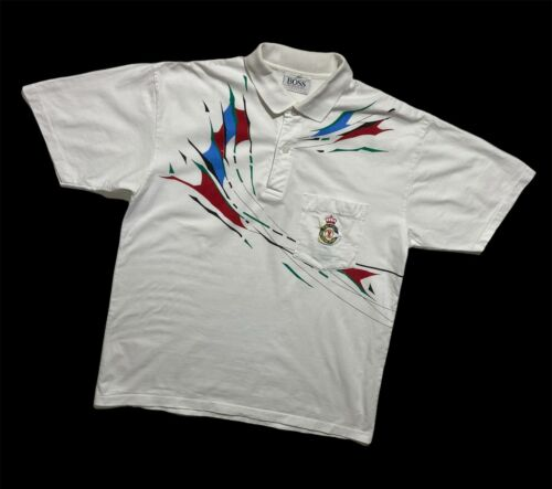 vintage polo shirt Hugo Boss polo International Boss Sport Large 90s polo top sports tshirt L