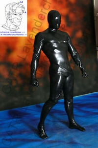 catr full coverage latex rubber catsuit cat suit himher ebay. Black Bedroom Furniture Sets. Home Design Ideas