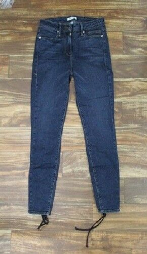 NEW GOOD AMERICAN by Khloe Kardashian Good Legs Lace Up Skinny Jeans Sz  0