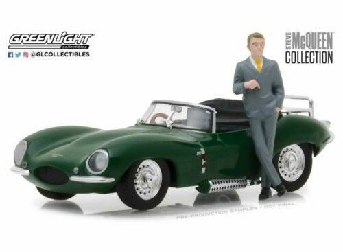 GREENLIGHT 86434 - 1 43 SCALE JAGUAR XKSS 1956 WITH STEVE MCQUEEN FIGURE