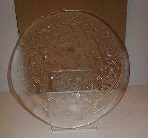 Nib Pottery Barn Embossed Amp Textured Glass 14 Quot Round