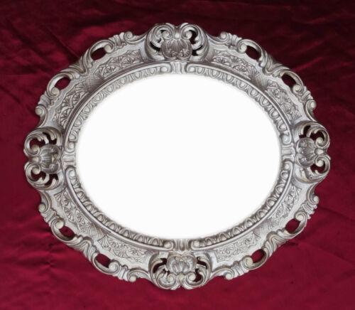 Miroir mural miroir Blanc Ovale 45 x 38 cm baroque antique repro vintage 345 12 **