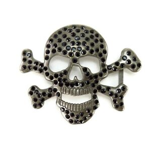 Large Skull /& Crossbones Belt Buckle