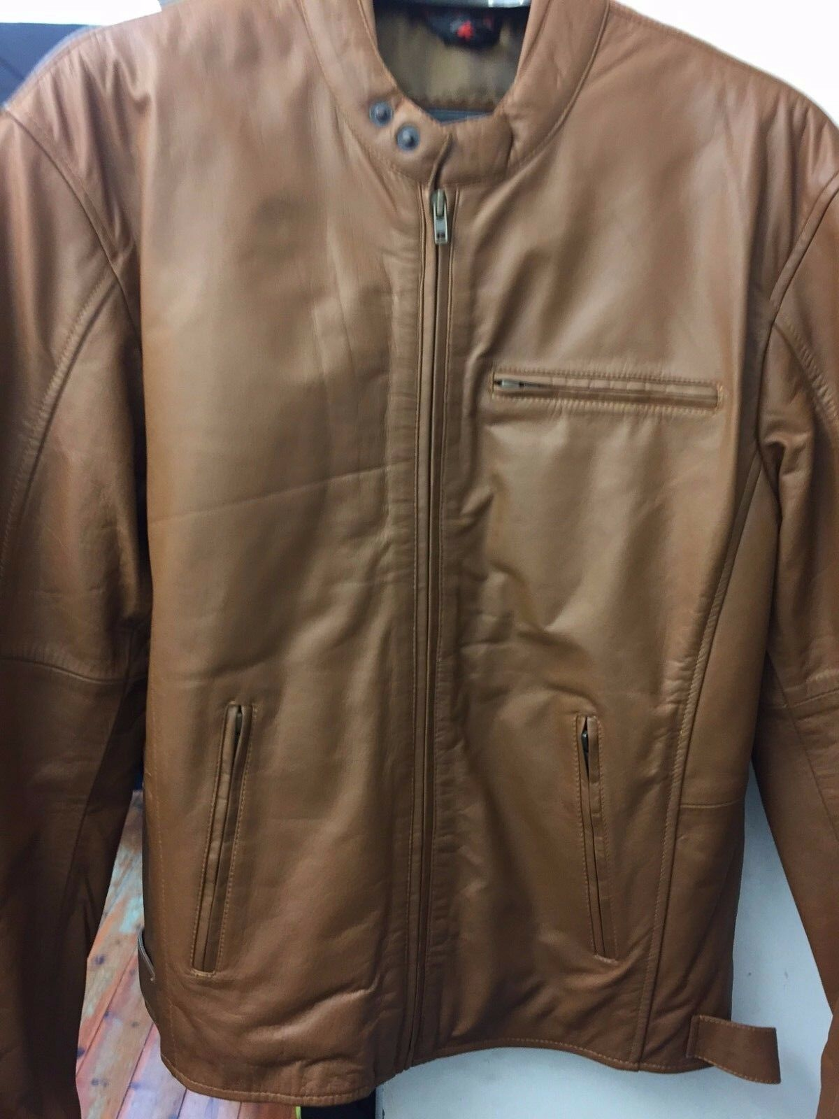 Mens Casual Fashion Leather  Jacket STYLE 4044  CLEARANCE