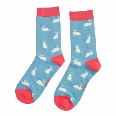 Ladies Bunny Rabbits Design Socks Novelty Bamboo Cotton Blend 4-7