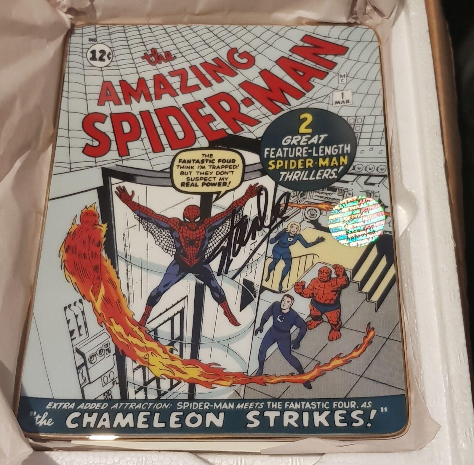 MARVEL STAN LEE signed THE AMAZING SPIDER-MAN  1 Franklin Comme neuf Chameleon grèves