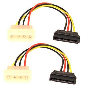 SATA-Serial-ATA-Power-Adaptor-Lead-Cable-Molex-HD-HDD-Pack-of-2