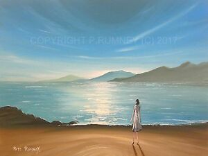 PETE-RUMNEY-FINE-ART-ORIGINAL-PAINTING-CANVAS-PICTURE-DREAMING-DISTANT-SHORES