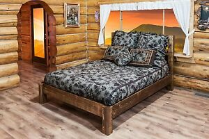 captivating amish farmhouse bedroom furniture | Amish Platform Beds Farmhouse Style Queen Bed Rustic Lodge ...
