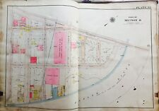 1919 INWOOD MANHATTAN NY ORIGINAL G.W. BROMLEY PLAT MAP ATLAS WEST 214TH-220TH