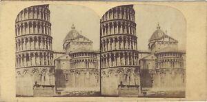 Pisa-Italia-Foto-Stereo-Vintage-Albumina-c1860