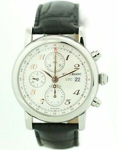 f0f8989d59c1e Image is loading Montblanc-Star-Chronograph-UTC-Steel-Rose-Gold-Leather-