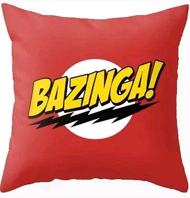 "18"" BAZINGA! The Big Bang Theory TBBT Funny Comedy Geek Cushion Cover TV UK Nerd"