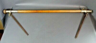 Antique German Wood Brass Walking Stick Cane Horse ...