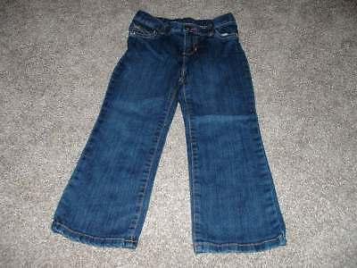 Carter's Girls Butterfly Pocket Jeans Dark Denim Pants Size 5T 5 Toddler EUC
