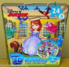 Disney Junior Super 3D  6 Puzzle Pack Doc McStuffins Sofia Jake Mickey Goofy