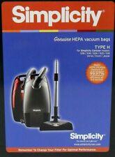 12 Type H HEPA Bag fit Simplicity Verve Cinch Jessie S18 20 24 30 36L 38L Vacuum