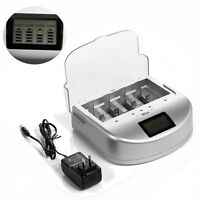 Universal Smart LCD AA AAA Alkaline C/D 9V Ni-MH Ni-CD Battery Quick Charger US