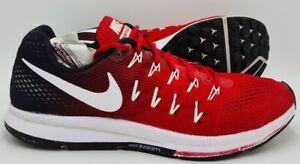 Scarpe-da-Ginnastica-Nike-Zoom-Pegasus-843802-601-Rosso-Nero-Bianco-UK10-5-US11-5-EU45-5