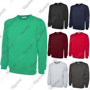 New Mens Plain Long Sleeve Fleece Sweatshirt Sweater Casual Jumper Leisure Sport SchnäPpchenverkauf Zum Jahresende