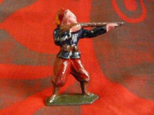Soldat-de-plomb-creux-Tirailleur-au-feu-premiere-guerre-mondiale-hauteur-50mm