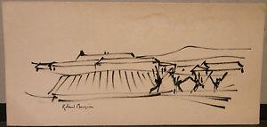 Dessin-Encre-ROLAND-BOSQUIN-1922-034-Paysage-034-RB1