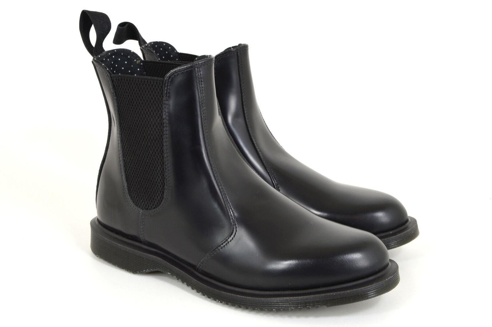 Dr. Martens flora chelsea Boots, Black, negro, chelsea Boots, cuero, nuevo