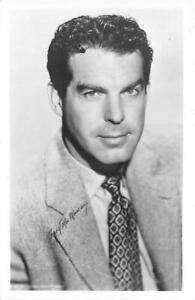 FRED-MACMURRAY-Movie-Star-Actor-RPPC-c1940s-Vintage-Postcard