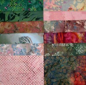 12-PRE-WASHED-Premium-BALI-BATIK-Fabric-FAT-QUARTERS-from-Private-Stash