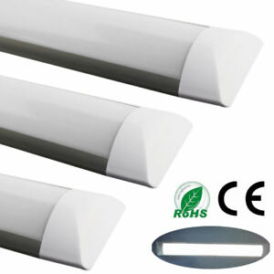 2x-4FT-1200mm-LED-Batten-Tube-Light-Surface-Mounted-Strip-Wall-Panel-Lamps-White