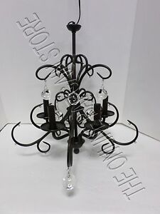 Image Is Loading Pottery Barn Bellora Gl Crystal Five Arm Chandelier