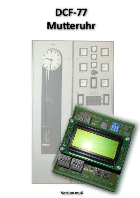 Mutteruhr 24V mit DCF77, zum Anschluss von Nebenuhren mit 12-60 Volt +++ NEU